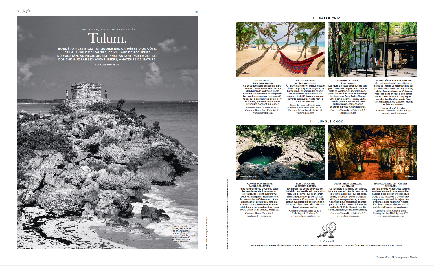 Tulum Travel Guide for Le Monde Magazine, France – Everystring.com ...